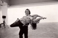 Festival d'Automne, Paris 1973, here seen with Michelle Signeuret