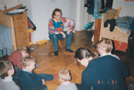Children are still the best audience. Story-telling time, Vienna 1992